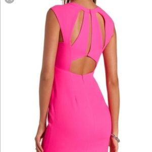 Hot Pink Cut Out Dress